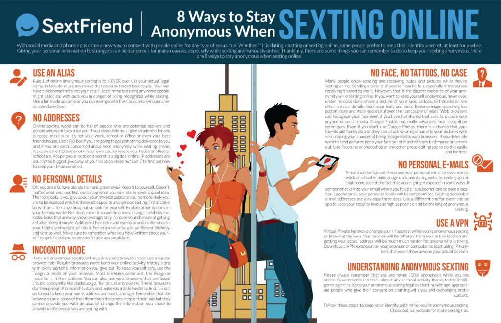 8 Ways To Stay Anonymous When Sexting Online [Infographic