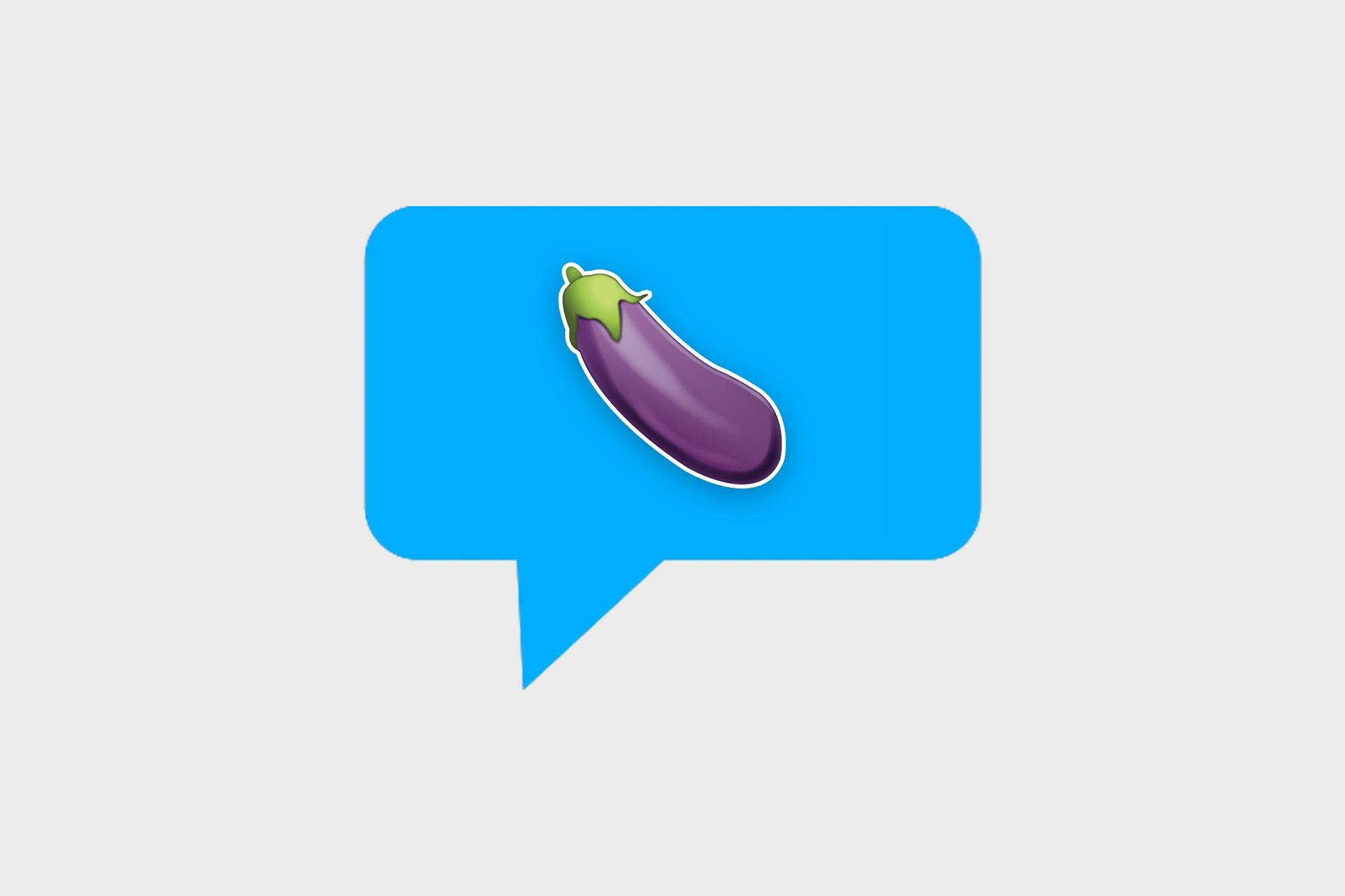 Eggplant penis emoji sextfriend