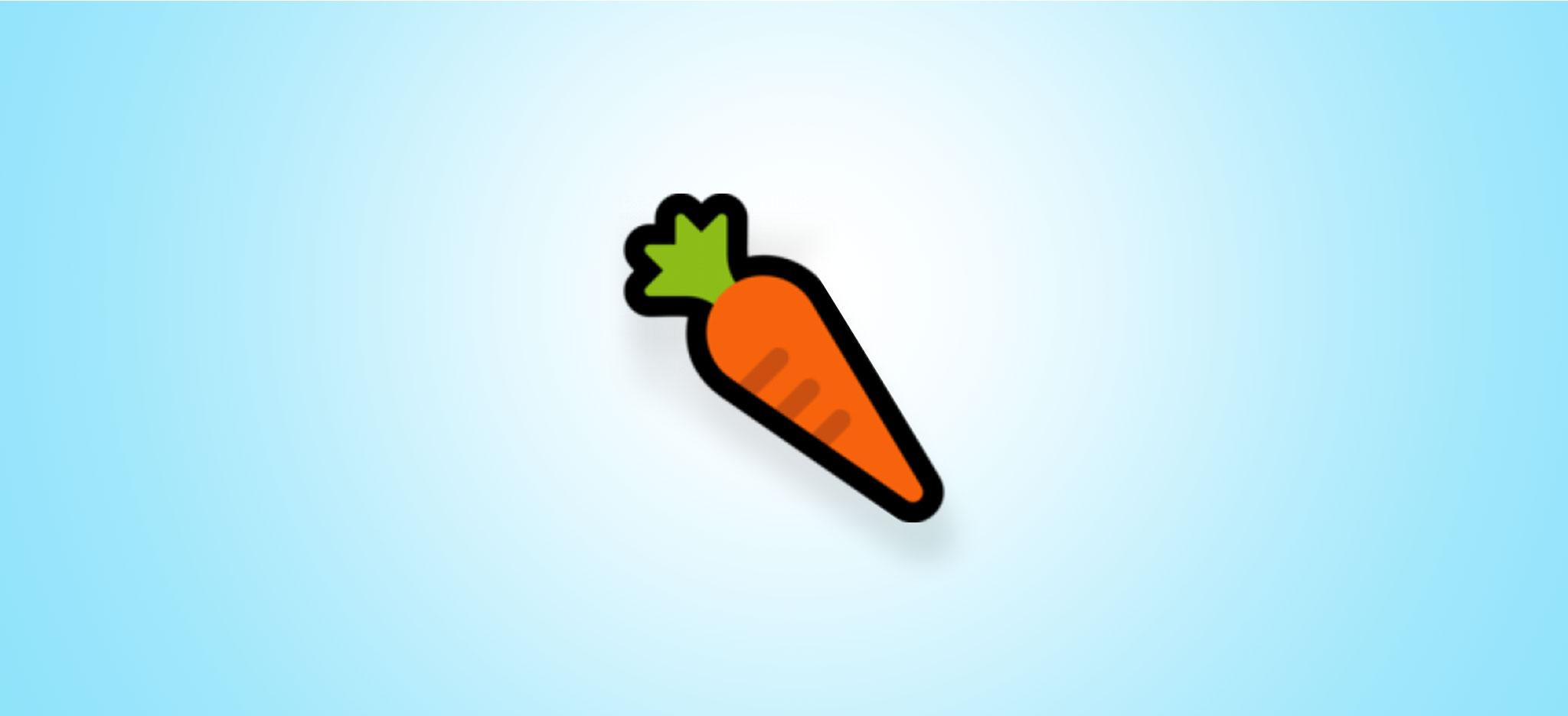 Carrot sextitng emoji