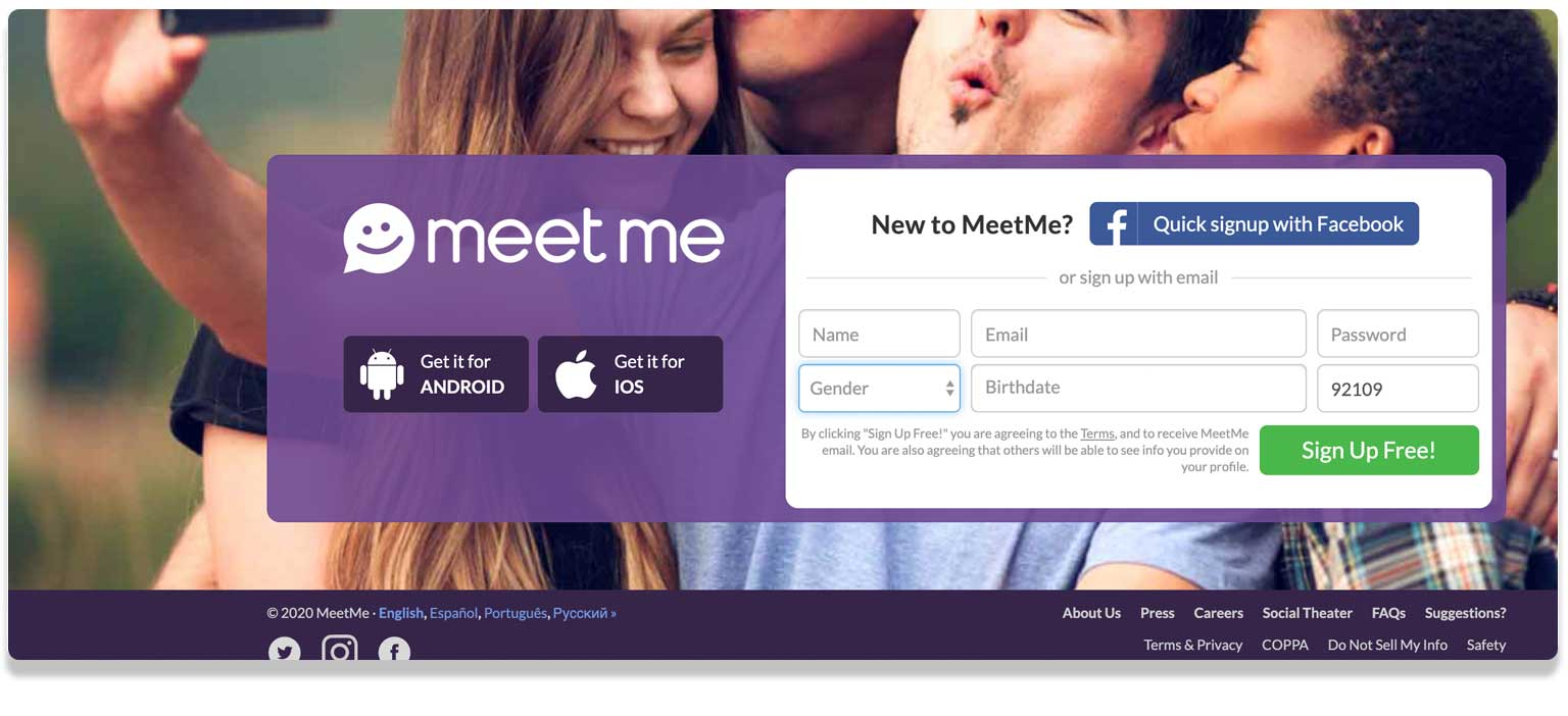 MeetMe app for sexting